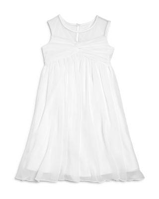 Wedding - US Angels Girls' Illusion Knot Front Dress - Little Kid