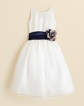 Wedding - US Angels Girls' Mix & Match Organza Dress, Sash & Rosebud - Big Kid