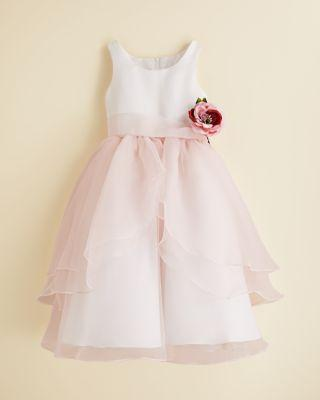 Wedding - US Angels Girls' Organza Flower Girl Dress - Sizes 7-14