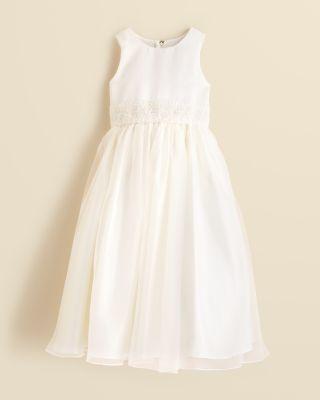 Wedding - US Angels Girls' Beaded Waist Dress - Sizes 7-14
