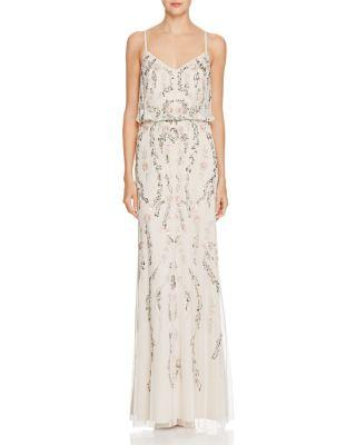 Boda - Adrianna Papell Open-Back Lace Dress