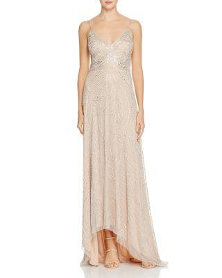 Mariage - Aidan Mattox Beaded Slip Gown - 100% Exclusive