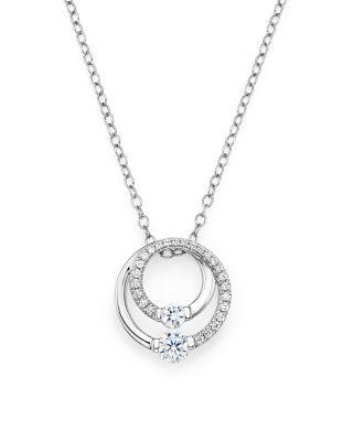 Bloomingdale's Diamond Circle Pendant Necklace in 14K White Gold, .30 ct. t.w. - 100% Exclusive