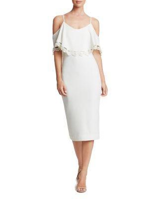 Свадьба - Dress the Population Beth Cold-Shoulder Dress