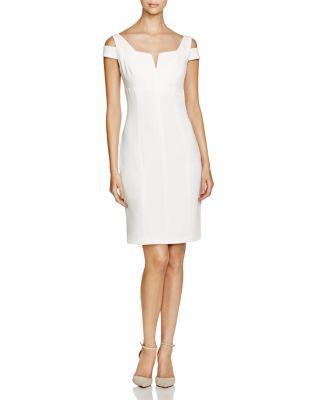 Hochzeit - Adrianna Papell Cold-Shoulder Sheath Dress