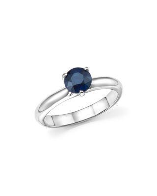 Mariage - Roberto Coin Platinum Prong Set Sapphire Ring