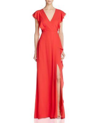 Düğün - BCBGMAXAZRIA Flutter Sleeve Gown - 100% Exclusive