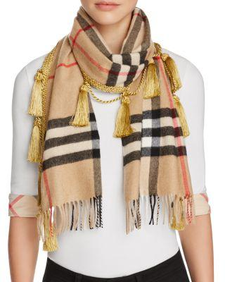 Mariage - Burberry Giant Check Scarf with Tassels