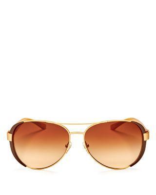 زفاف - Tory Burch Aviator Sunglasses, 61mm