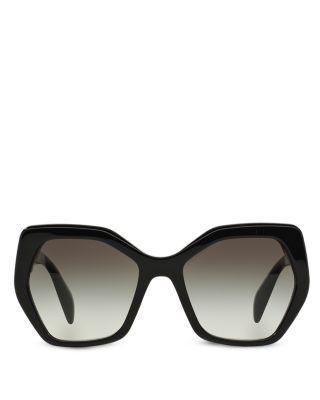 Wedding - Prada Oversized Geometric Sunglasses, 56mm