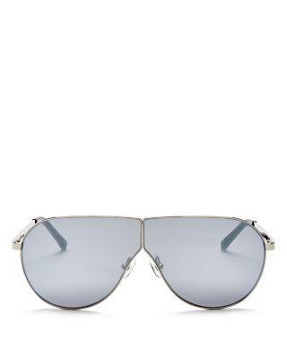 Wedding - 3.1 Phillip Lim Mirrored Shield Aviator Sunglasses, 70mm