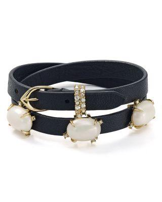 Wedding - Alexis Bittar Embellished Leather Wrap Bracelet