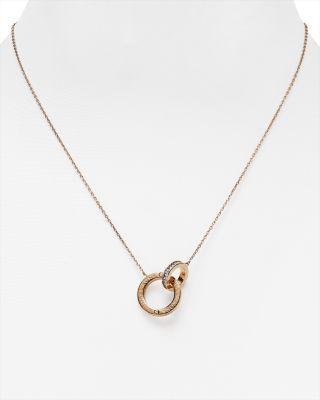 "Hochzeit - Michael Kors Interlocking Logo Ring Pendant Necklace, 18"""