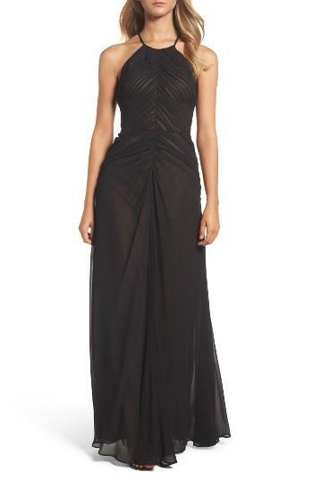 Wedding - Vera Wang Shirred Chiffon Gown
