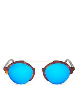 زفاف - Illesteva Milan III Mirrored Sunglasses, 54mm
