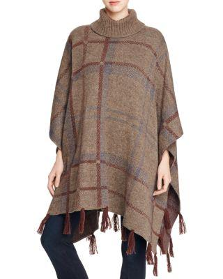 Wedding - Barbour Plaid Knit Poncho