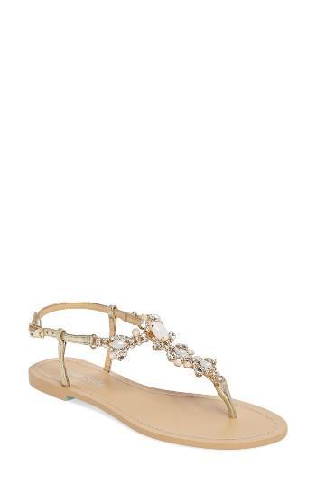 Mariage - Bella Belle Luna Embellished T-Strap Sandal (Women)