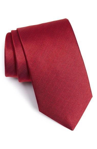 Свадьба - Eton Herringbone Textured Silk Tie