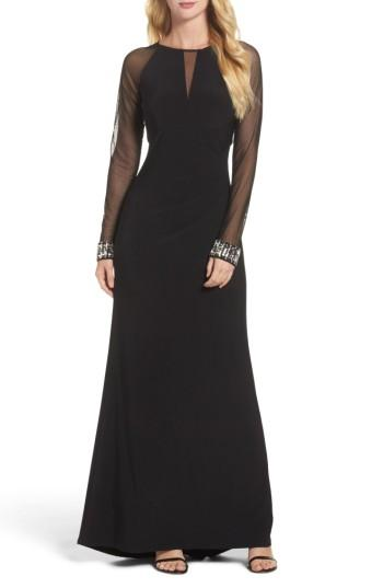 Hochzeit - Vince Camuto Embellished Illusion Gown