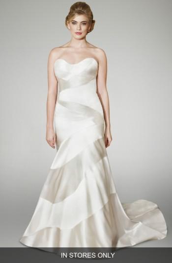 Mariage - Matthew Christopher Blake Strapless Silk Trumpet Gown (In Stores Only)
