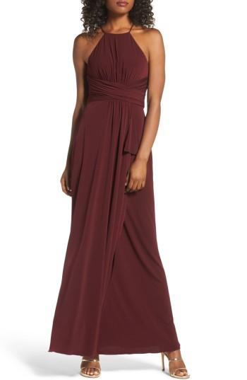 Wedding - Amsale Jones Ruched Halter Gown