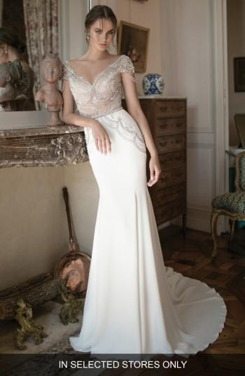 Свадьба - Alon Livné White Michele Beaded Cap Sleeve Mermaid Gown (In Selected Stores Only)