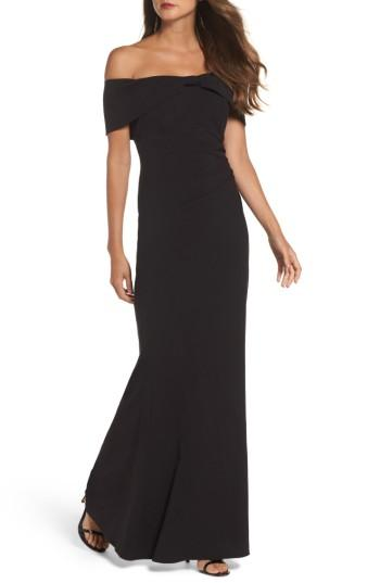 13f9f6558f0 Eliza J Knot Front Off The Shoulder Gown  2765539 - Weddbook