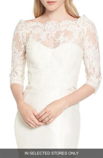 Wedding - Sareh Nouri Katherine Lace Off the Shoulder Bolero (In Selected Stores Only)
