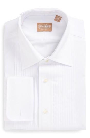 Mariage - Gitman Regular Fit Pleated Dress Shirt