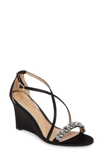 Свадьба - Jewel Badgley Mischka Embellished Strappy Wedge Sandal (Women)