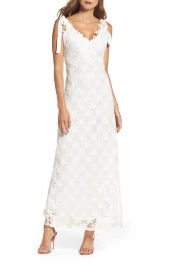 Hochzeit - Foxiedox August Shoulder Tie Lace Maxi Dress