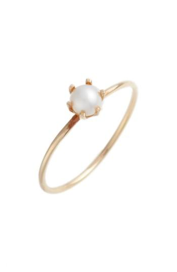 Wedding - Poppy Finch Pearl Solitaire Ring