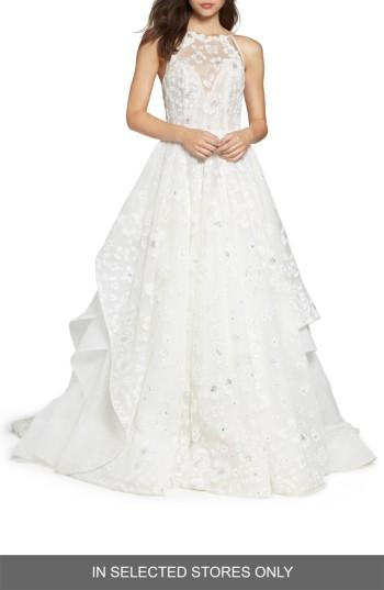 Hayley Paige Reagan Floral Embroidered Layered Ballgown 2777294