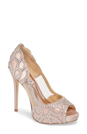 Свадьба - Badgley Mischka Witney Embellished Peep Toe Pump