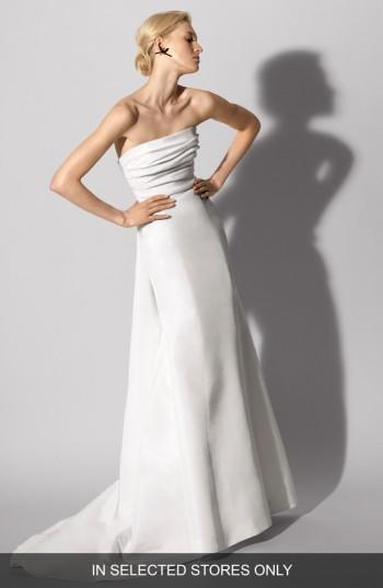 Wedding - Carolina Herrera Florianne Strapless Silk Faille Trumpet Gown