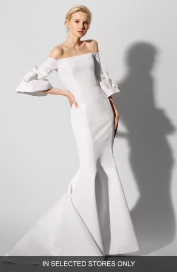Wedding - Carolina Herrera Faye Off the Shoulder Silk Faille Mermaid Gown