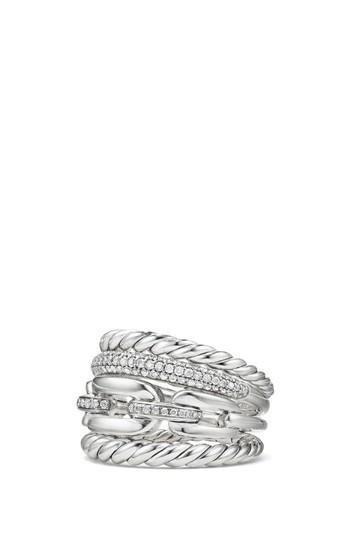 زفاف - David Yurman Stax Four-Row Ring with Diamonds