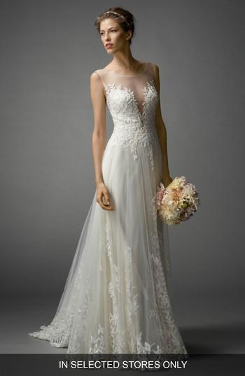 Mariage - Watters Kaliah Embroidered A-Line Gown