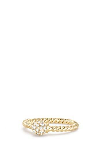 Свадьба - David Yurman Solari Station Ring with Diamonds in 18K Gold