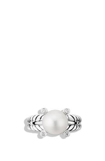 Свадьба - David Yurman Cable Pearl Ring with Diamonds