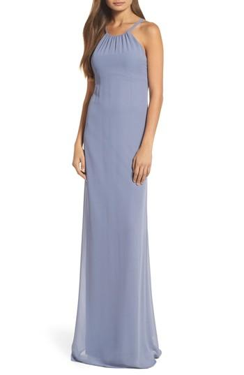 Wedding - nouvelle AMSALE Strappy High Neck Chiffon Gown