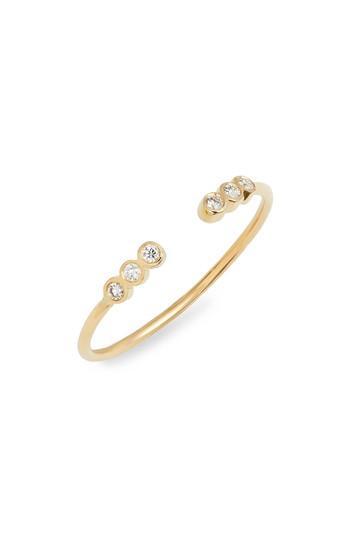Mariage - Zoë Chicco Six Diamond Bezel Open Stackable Ring