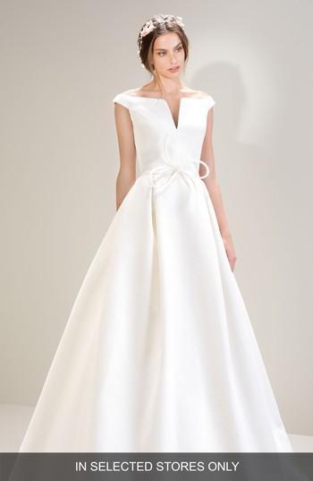 Свадьба - Jesus Peiro Off the Shoulder Pique Gown