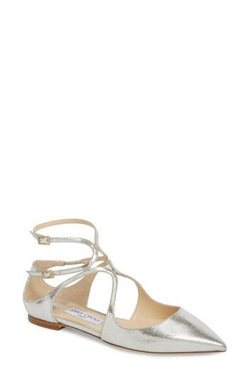 Свадьба - Jimmy Choo Lancer Ankle Strap Flat (Women)
