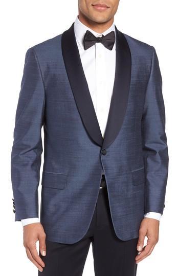 Wedding - Hickey Freeman Classic B Fit Silk Dinner Jacket
