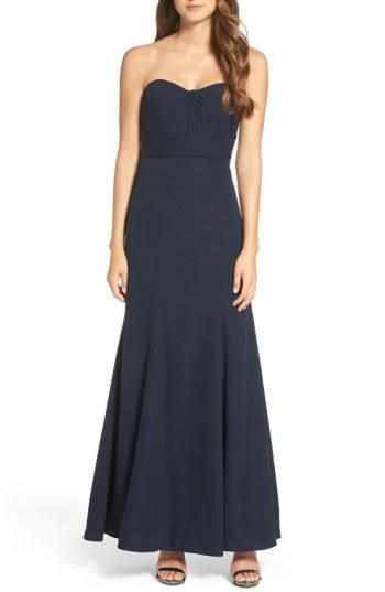 Wedding - WTOO Strapless Chiffon Gown