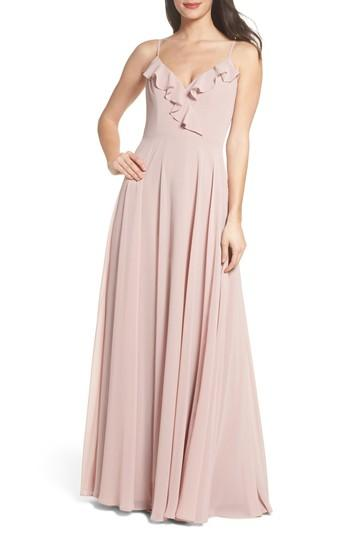 Wedding - Hayley Paige Occasions Ruffle Chiffon Gown