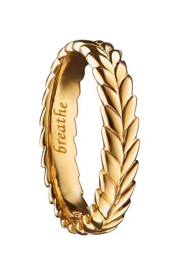 Hochzeit - Monica Rich Kosann Breathe 18K Gold Ring