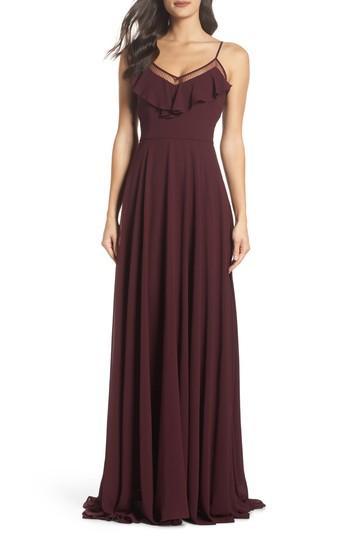Hochzeit - Heartloom Francie Ruffle V-Neck Gown
