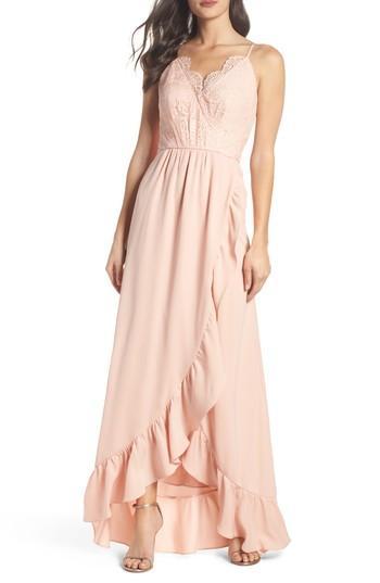 Mariage - Heartloom Teigen Faux Wrap Ruffle Gown